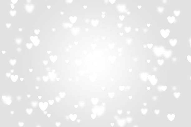 heart icon bokeh on grey color background. - heart stock pictures, royalty-free photos & images
