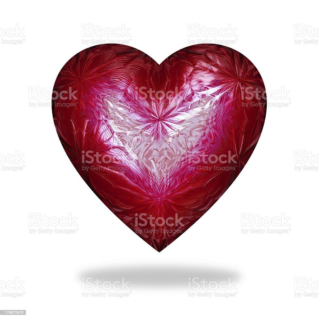 Icono del corazón aisladas sobre fondo blanco foto de stock libre de derechos