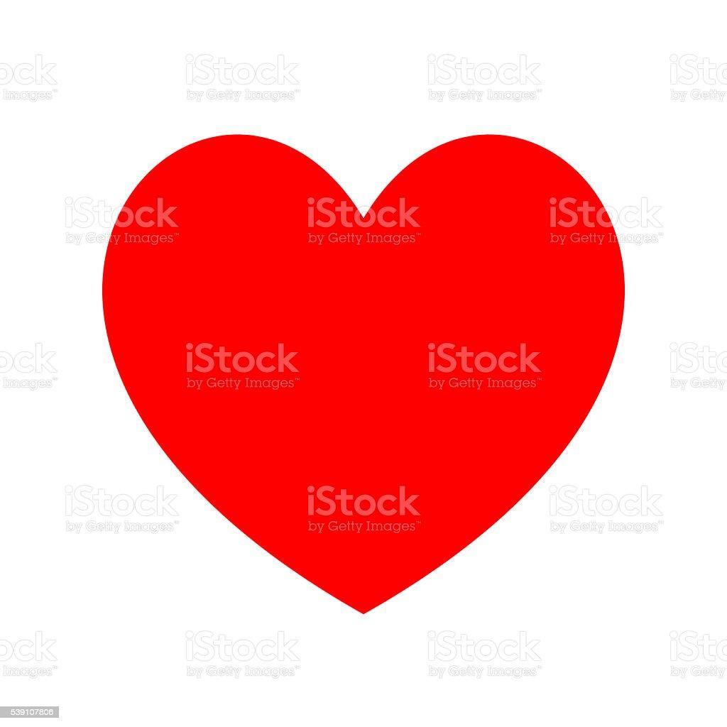 Heart icon. Minimal flat love symbol on white. Clipping Path. stock photo