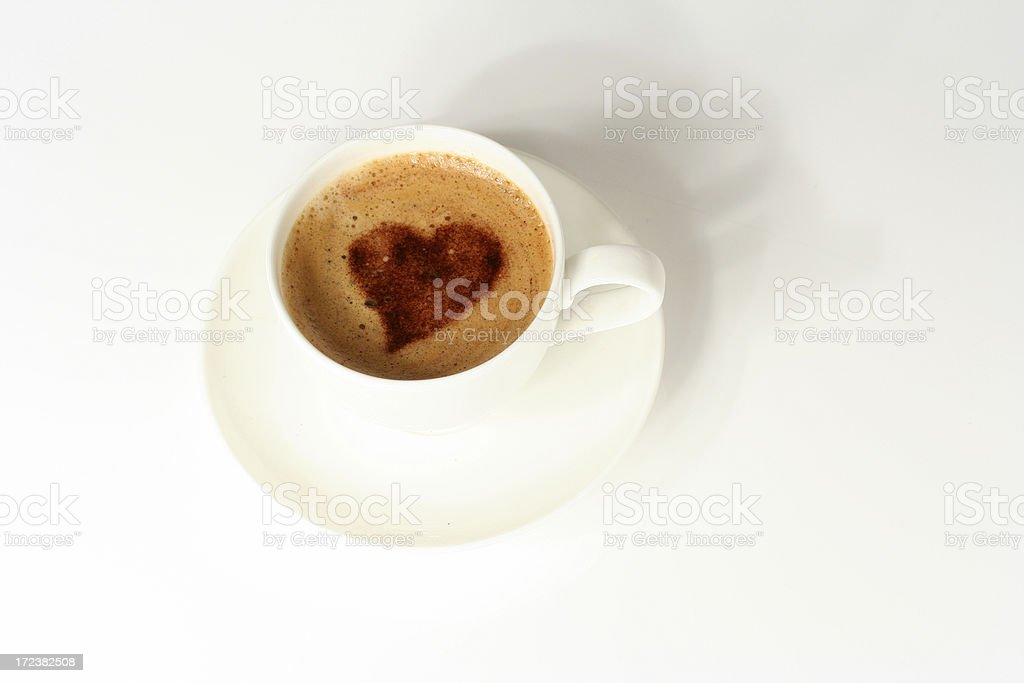 Heart in coffee royalty-free stock photo