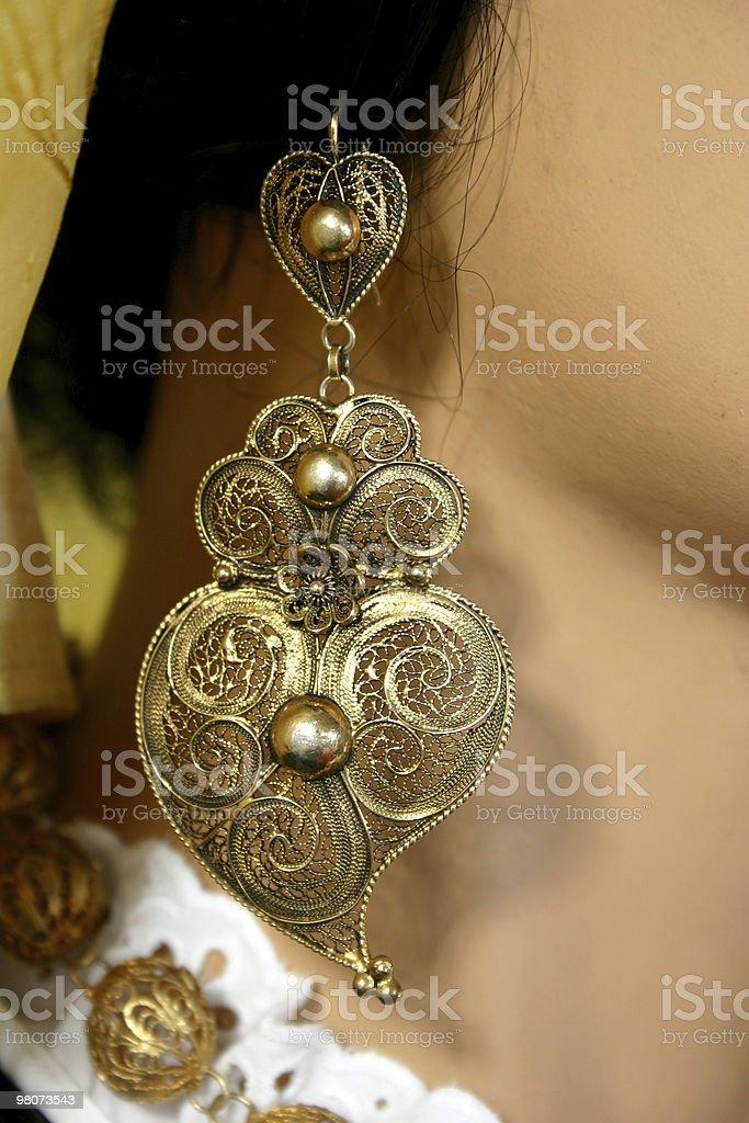 Cuore in filigrana d'oro foto stock royalty-free