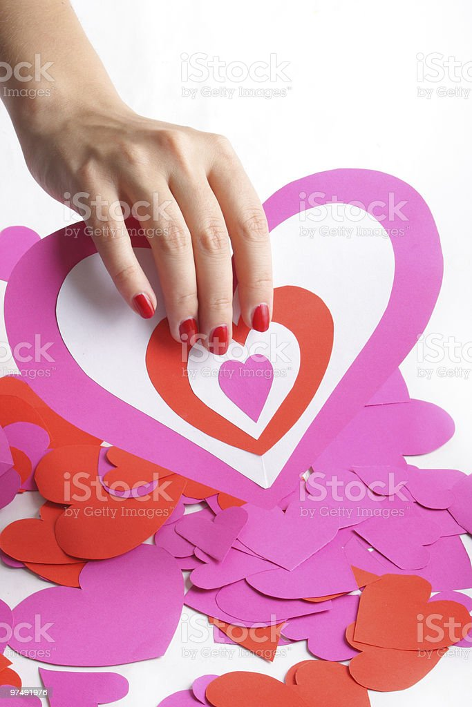 Heart in hand royalty-free stock photo