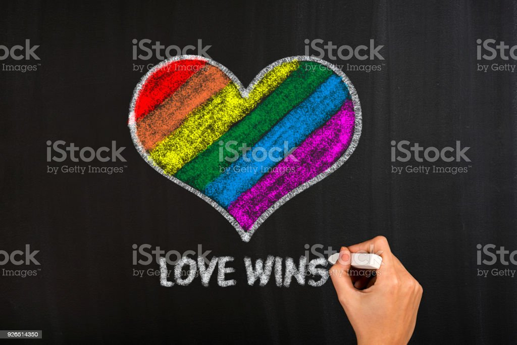 Heart In Lgbt Flag Colors Gay Culture Symbol Stock Photo More
