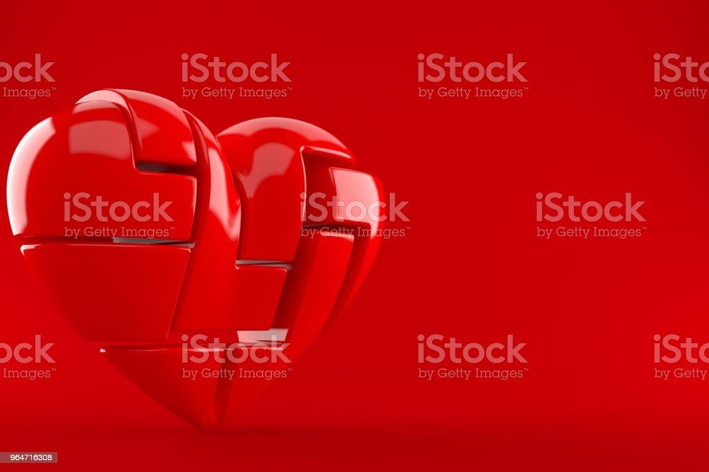 Heart in many parts royalty-free stock photo