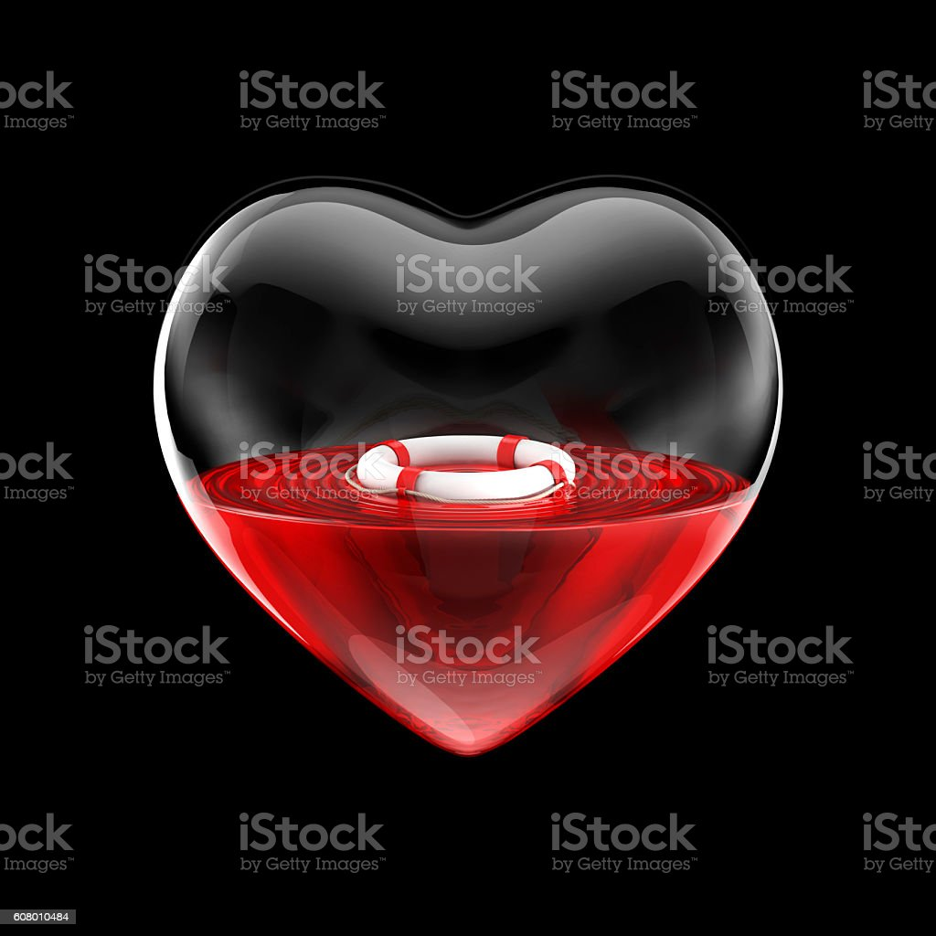 Heart in need of rescue stock photo