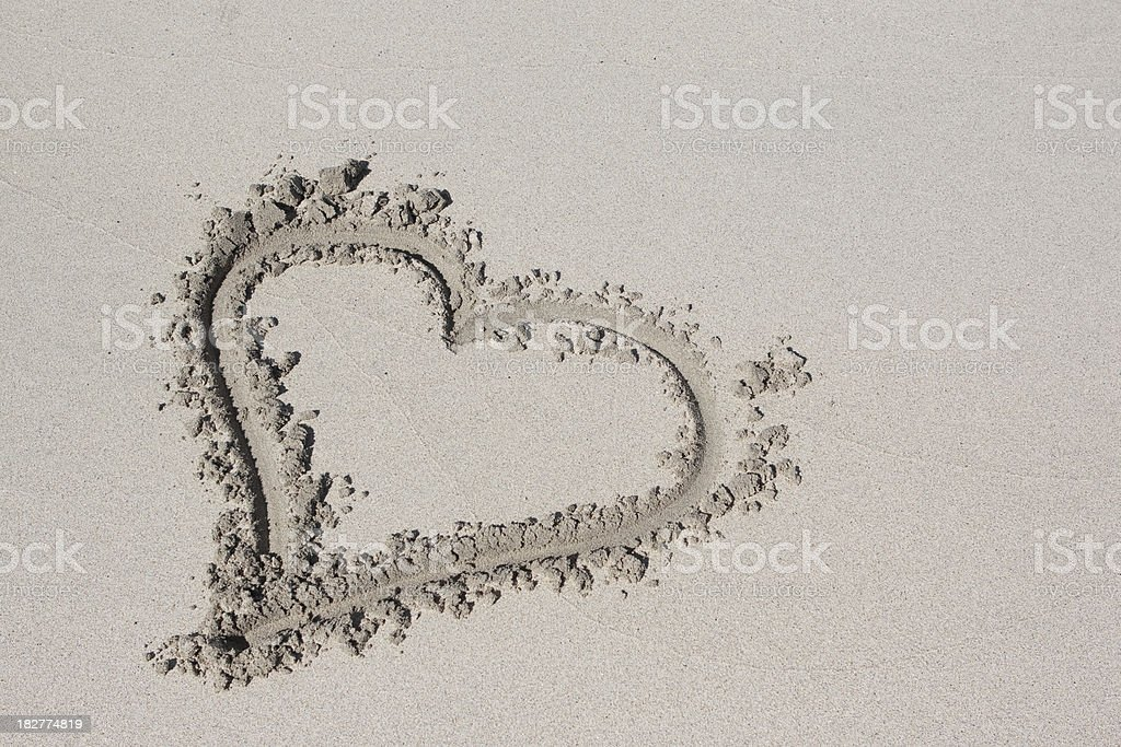Heart in Sand royalty-free stock photo