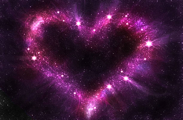 heart in space stock photo