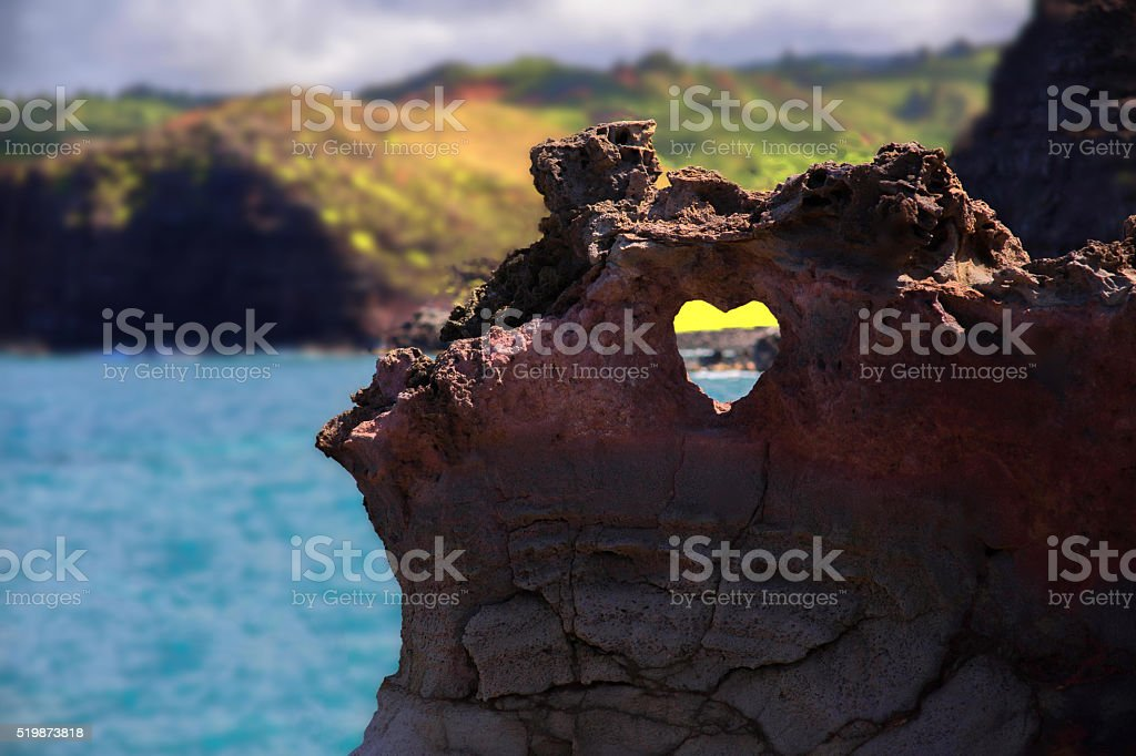 Heart in Stone stock photo