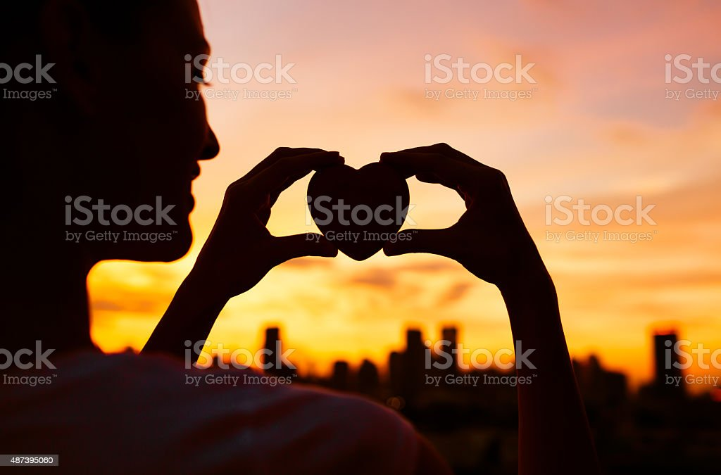 Heart in the city. stock photo