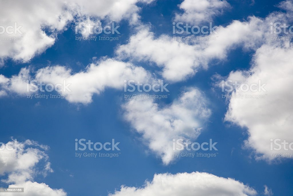 heart in the clouds stock photo
