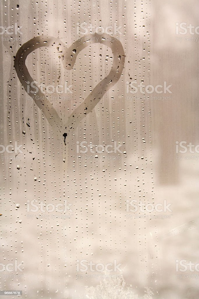 Heart in the steam royalty-free stock photo