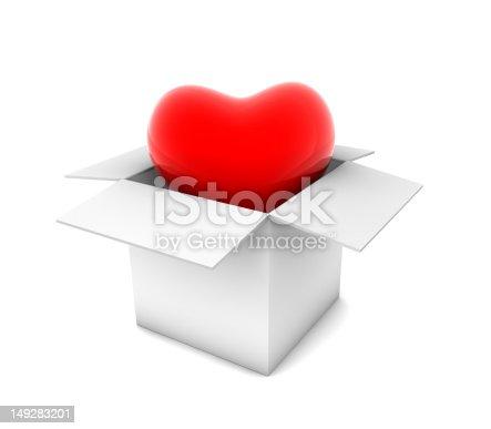 istock Heart in White Box 149283201