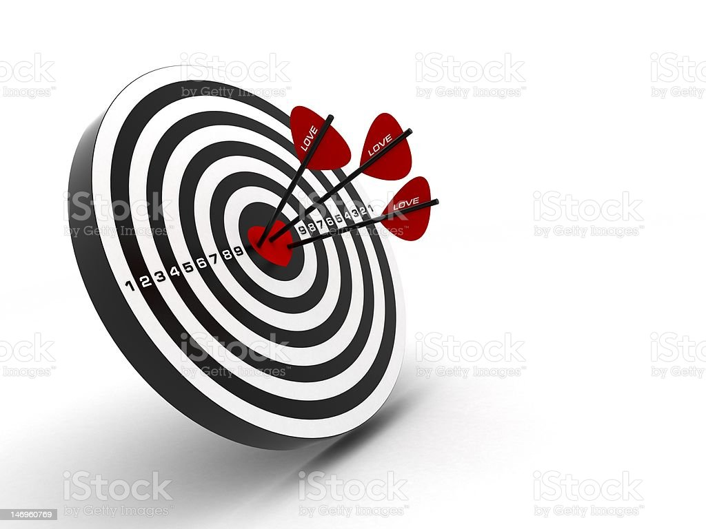 heart is love target royalty-free stock photo