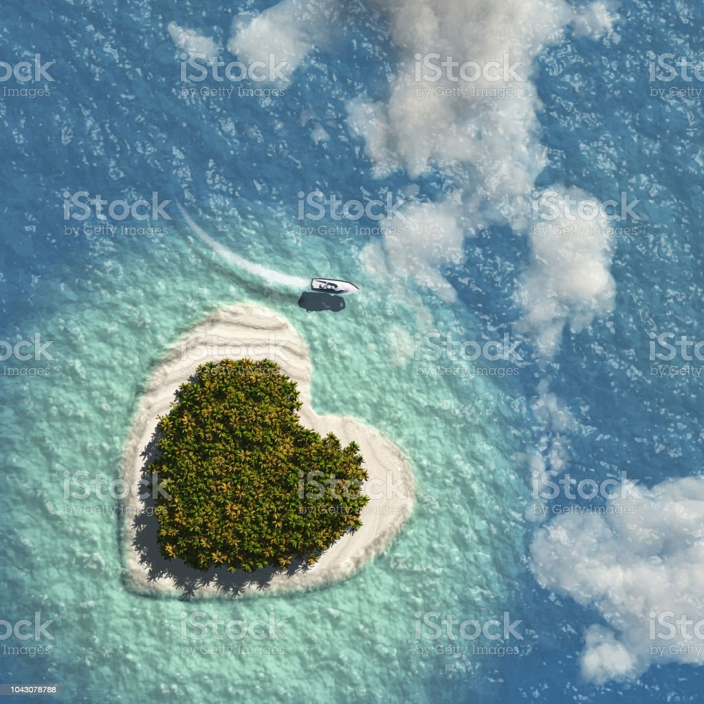 Heart Island stock photo