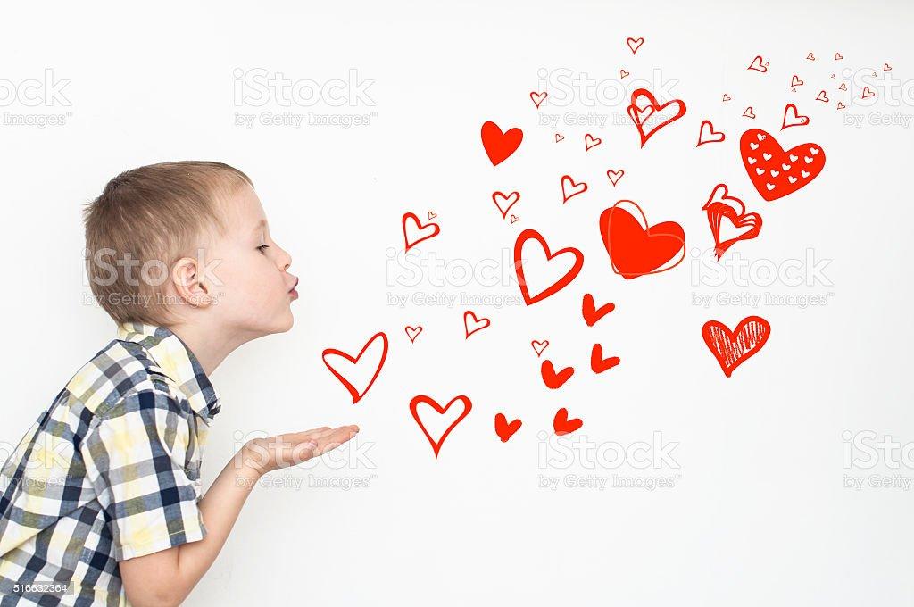 Heart kisses stock photo