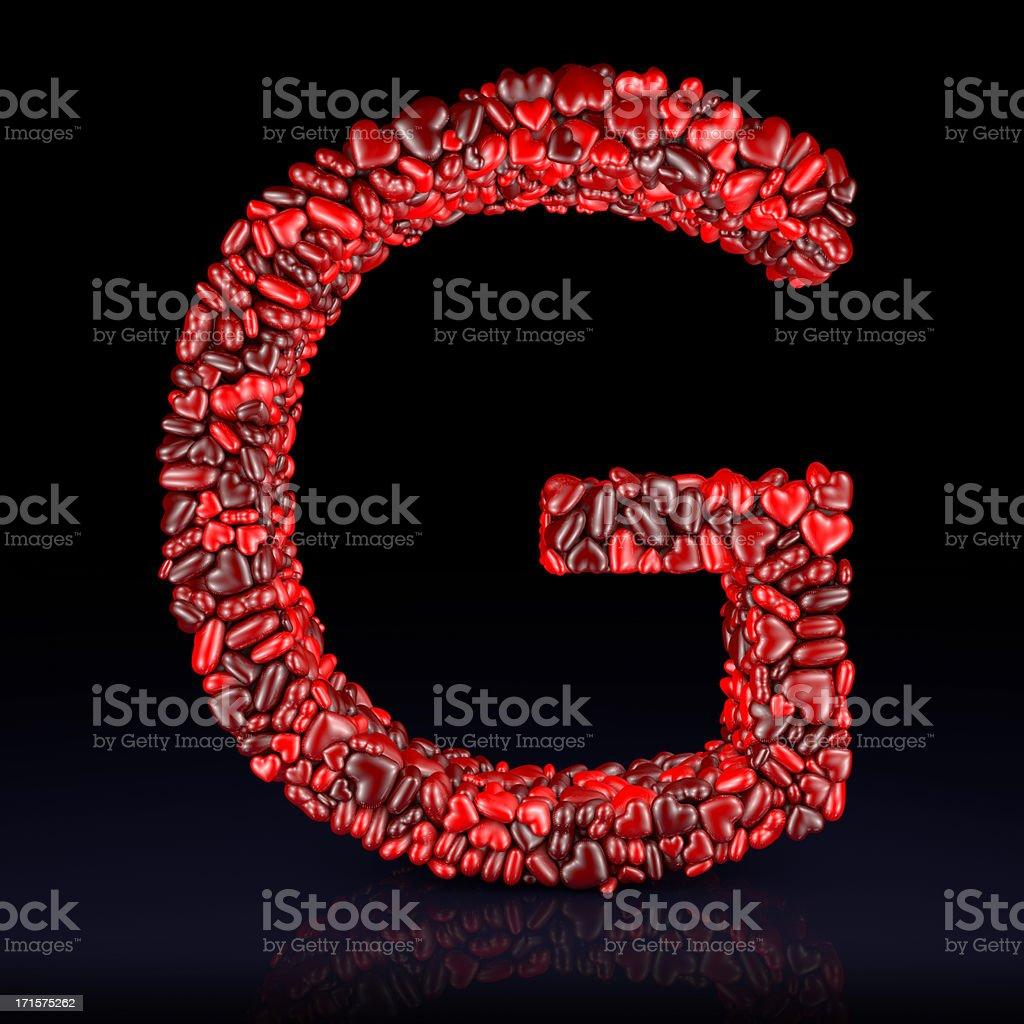 Heart Letter G stock photo