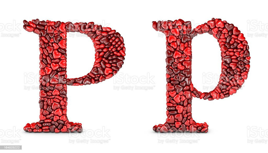 Heart Letter P royalty-free stock photo