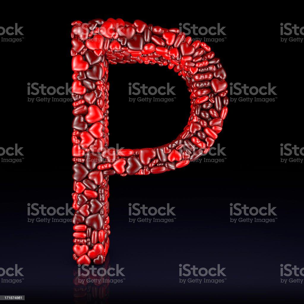 Heart Letter P stock photo