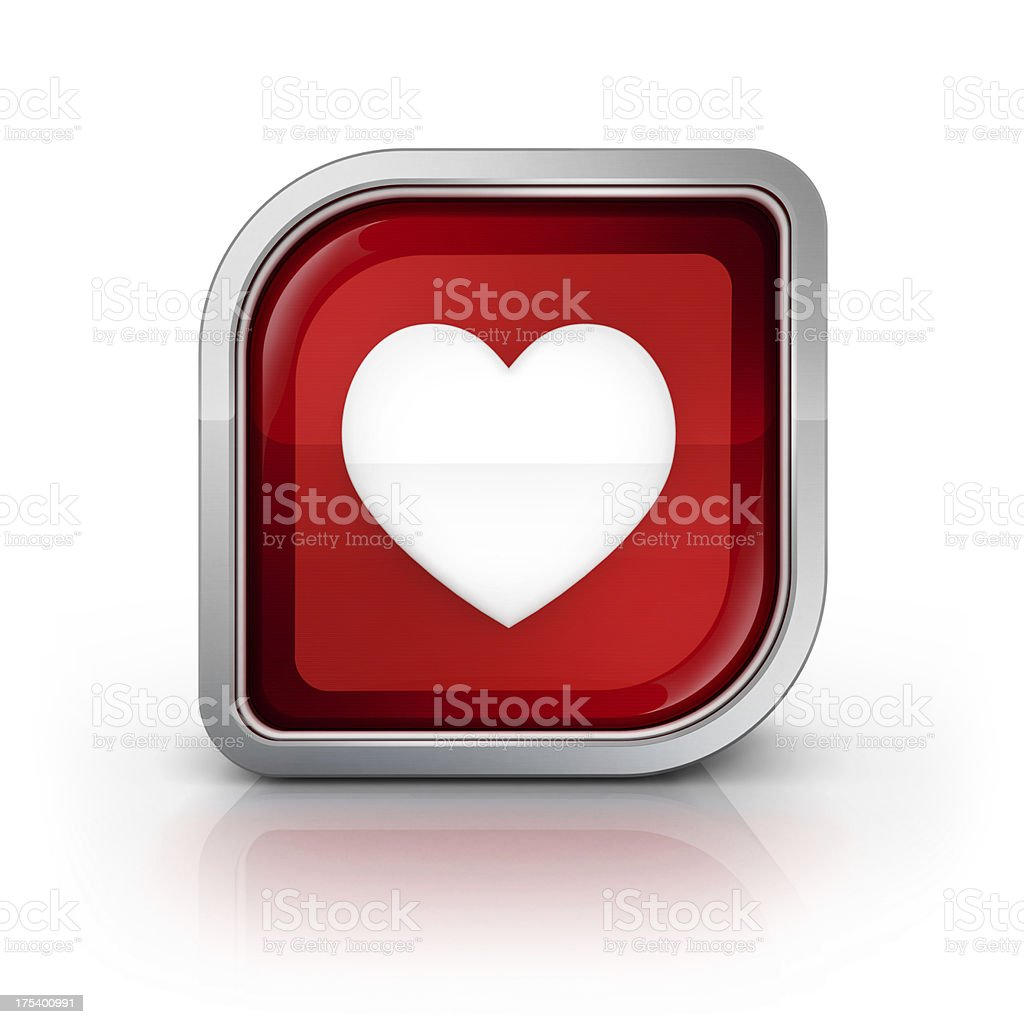 heart love glossy icon royalty-free stock photo