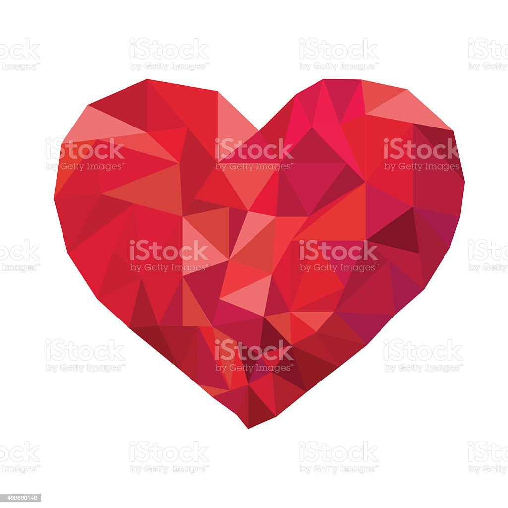 Heart Low poly stock photo