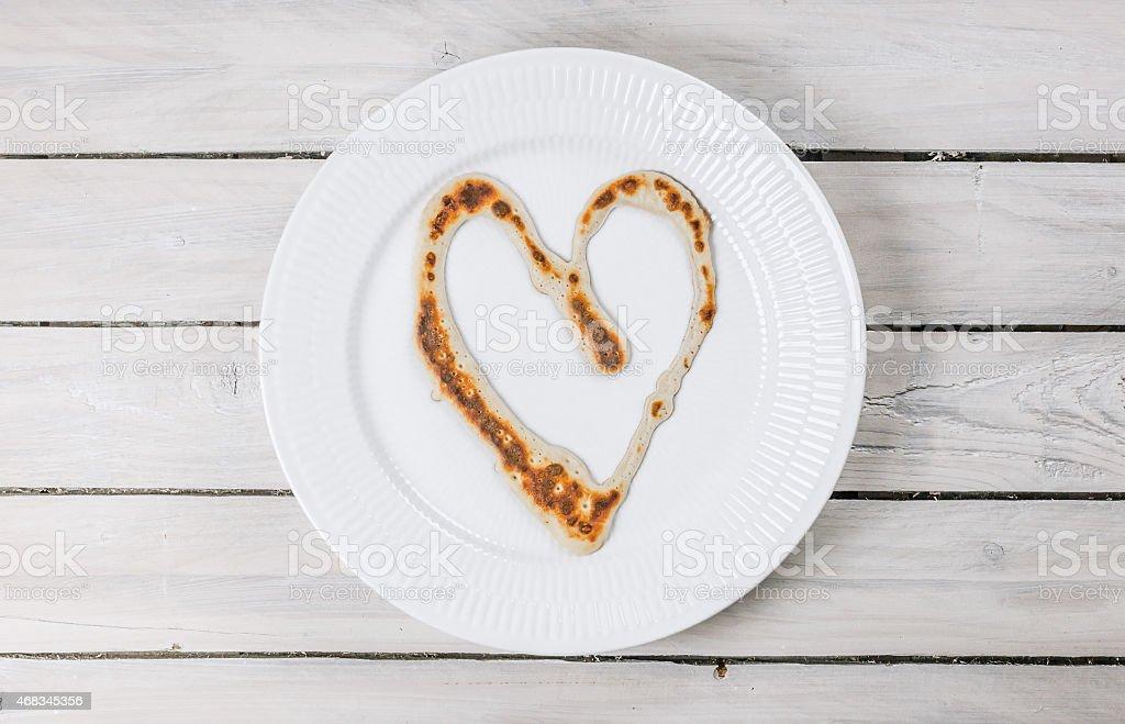 Heart made of bread royalty-free stock photo