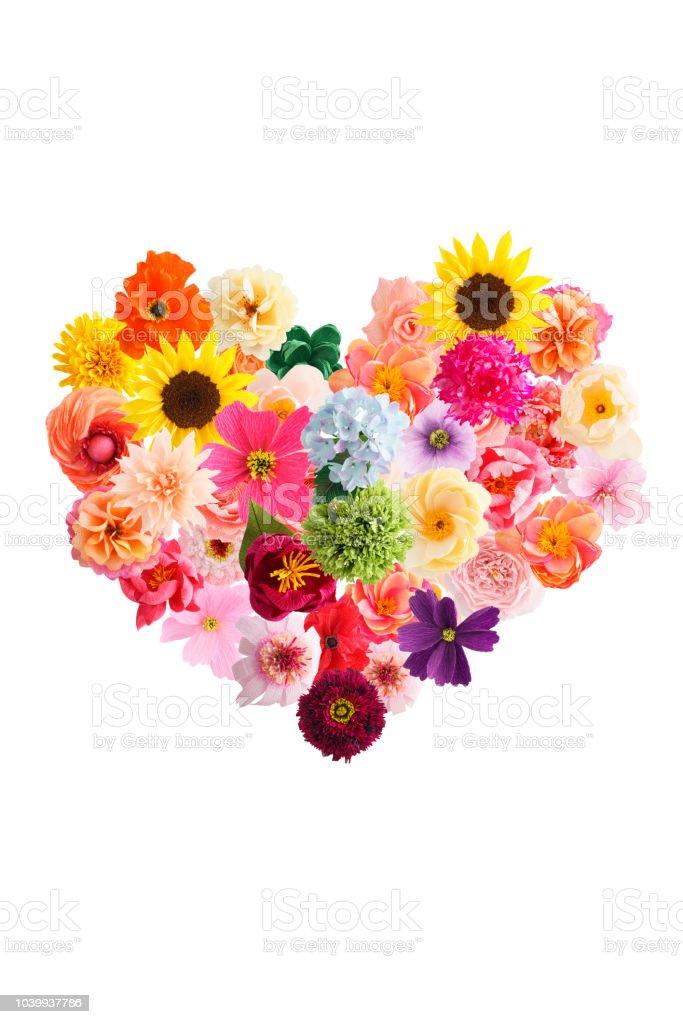 Foto De Coração Feito De Flores De Papel Crepom E Mais Fotos