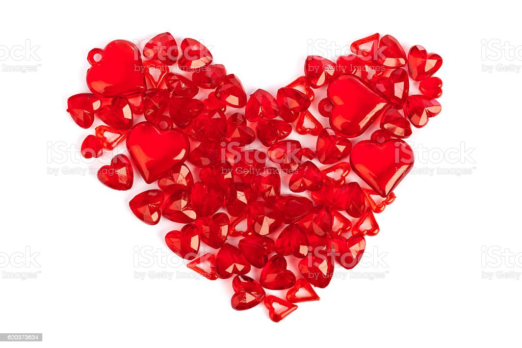 Heart made of decorative hearts zbiór zdjęć royalty-free