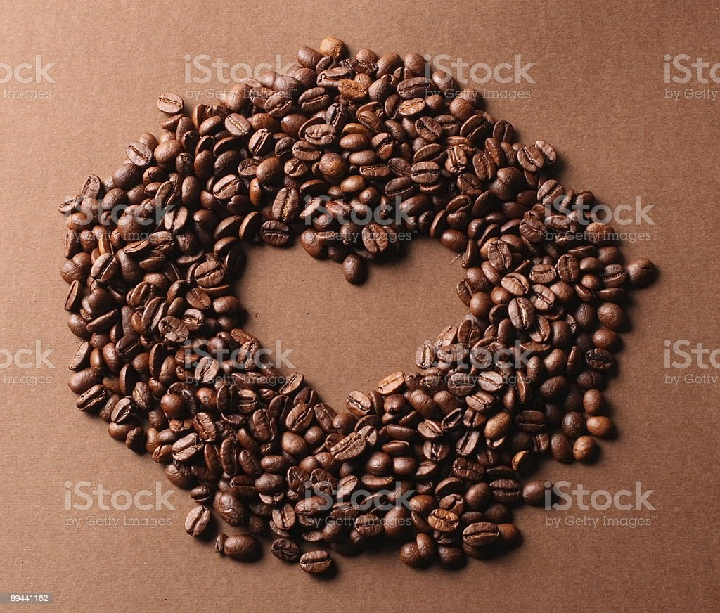 Cuore maked da coffee bean foto stock royalty-free