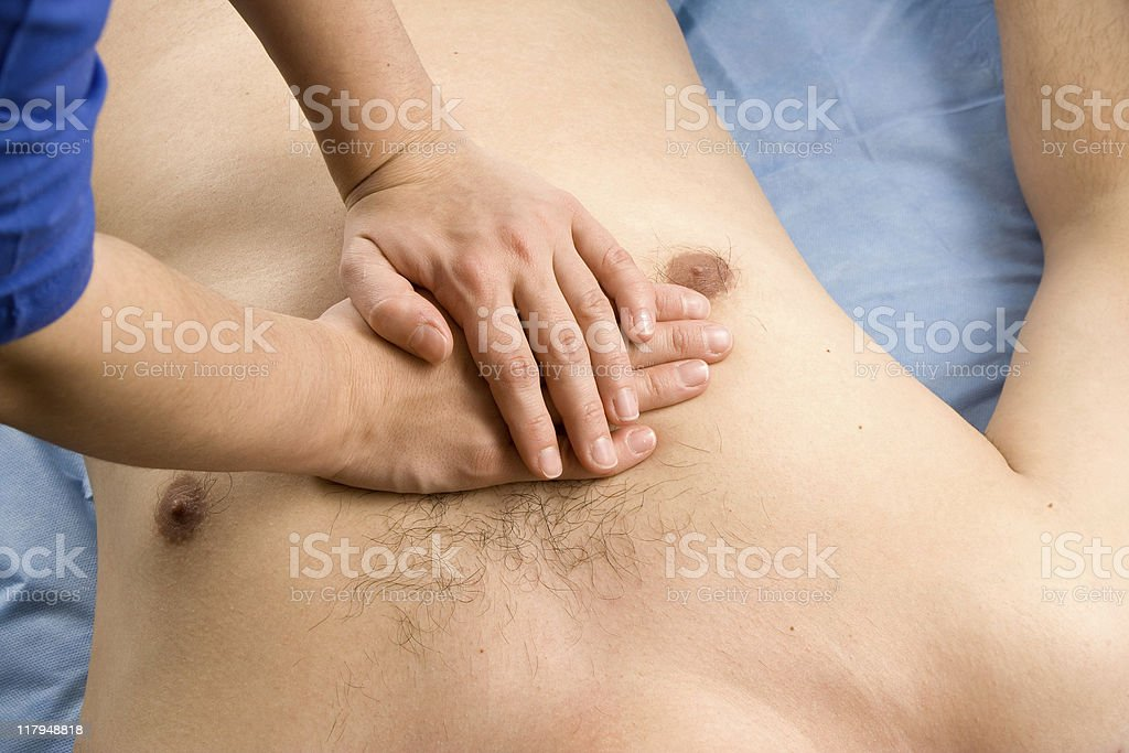 Heart massage royalty-free stock photo