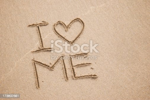 Message in the sand stands for a whole generation: I Heart Me