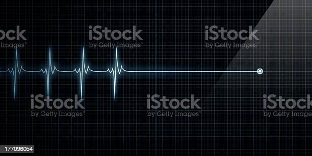 Heart Monitor Flat Line Death Stock Photo - Download Image Now