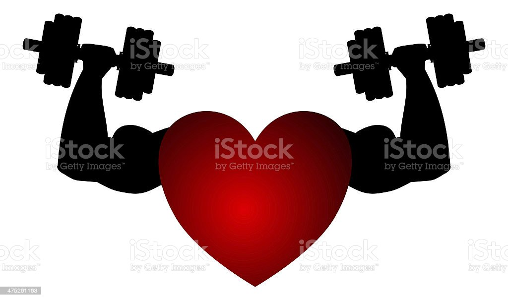 heart muscle symbol stock photo
