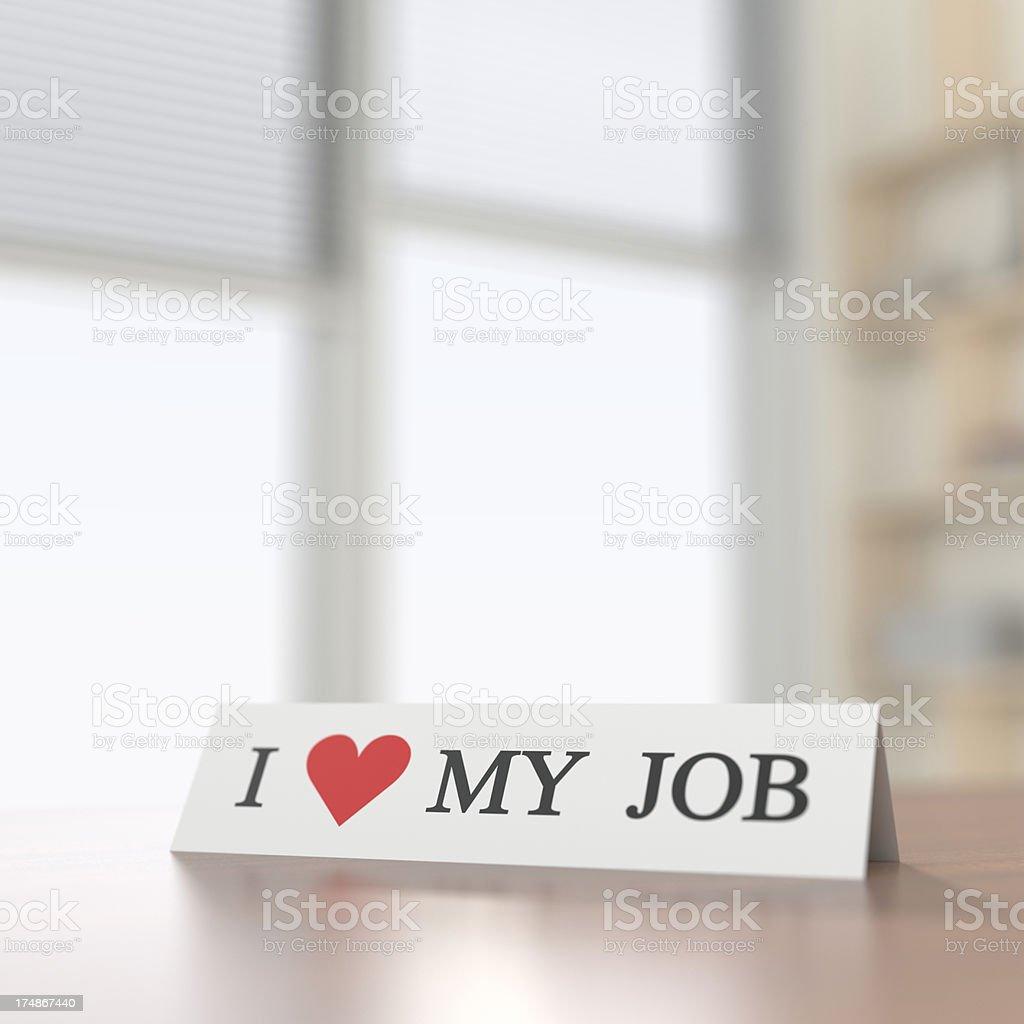 I Heart My Job XL+ stock photo
