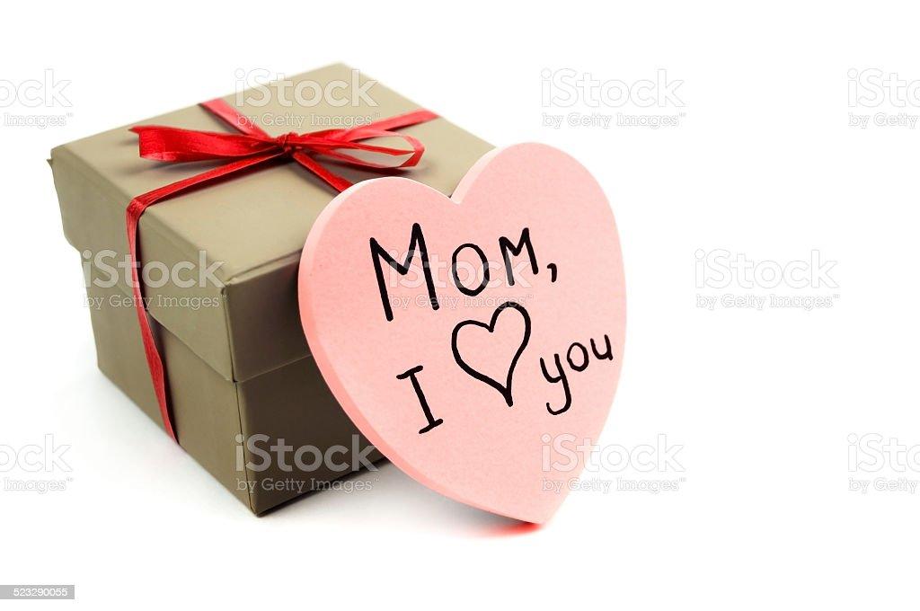 heart near a box stock photo
