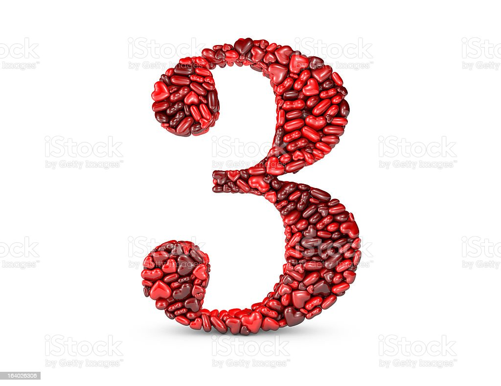 Heart Number 3 royalty-free stock photo