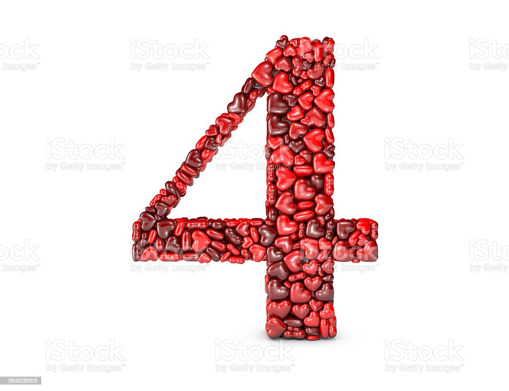 Heart Number 4 royalty-free stock photo