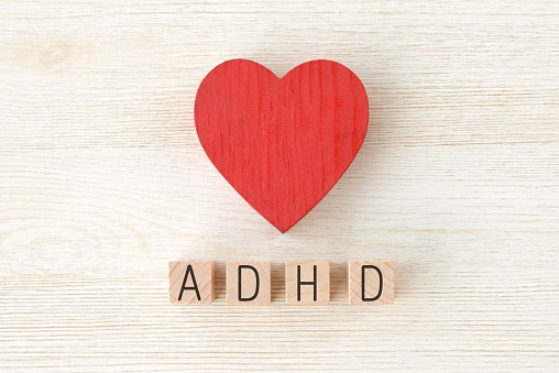Heart Object And Adhd Logos Stock Photo - Download Image Now