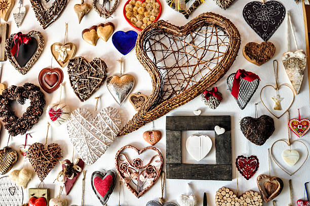 Heart of all shapes stock photo
