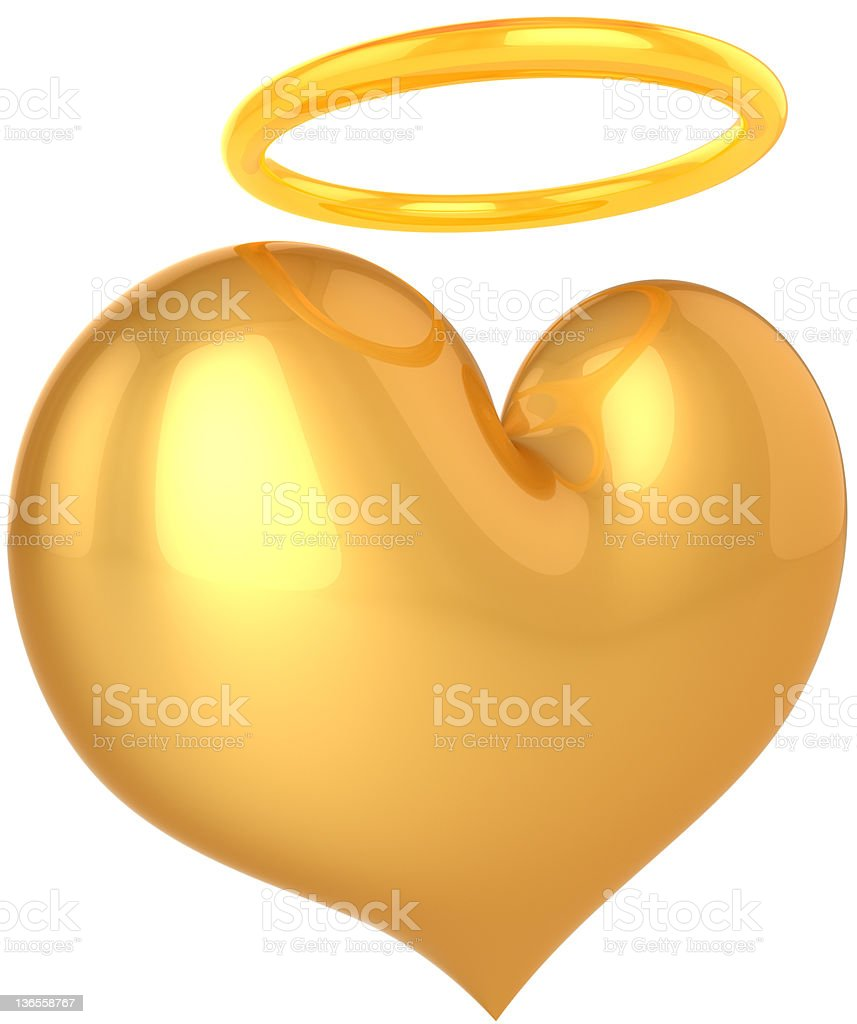 Heart of Angel. All we need is Saint Love! stock photo