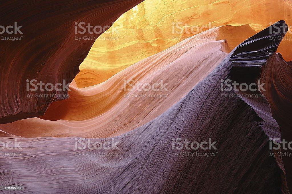Heart of Antelope Canyon stock photo