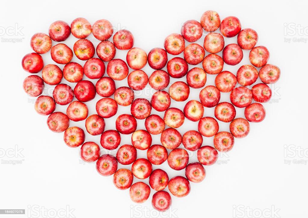 Heart of apples stock photo