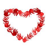 Heart of baby handprint