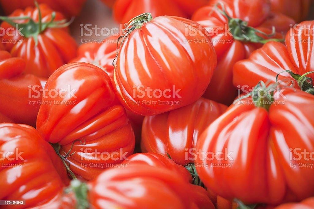 Coeur de Boeuf Tomatoes royalty-free stock photo
