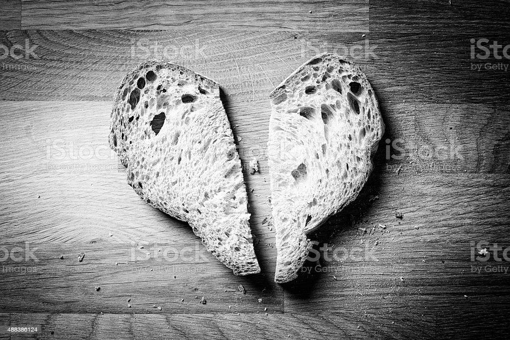 heart of bread royalty-free stock photo