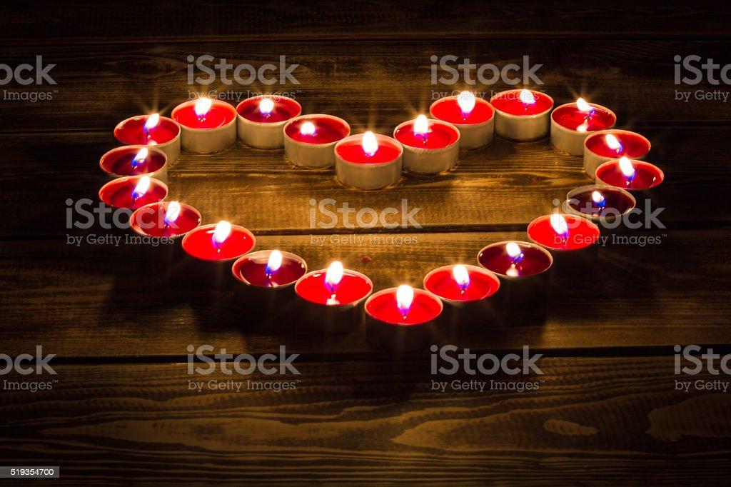 Von brennenden Kerzen – Foto