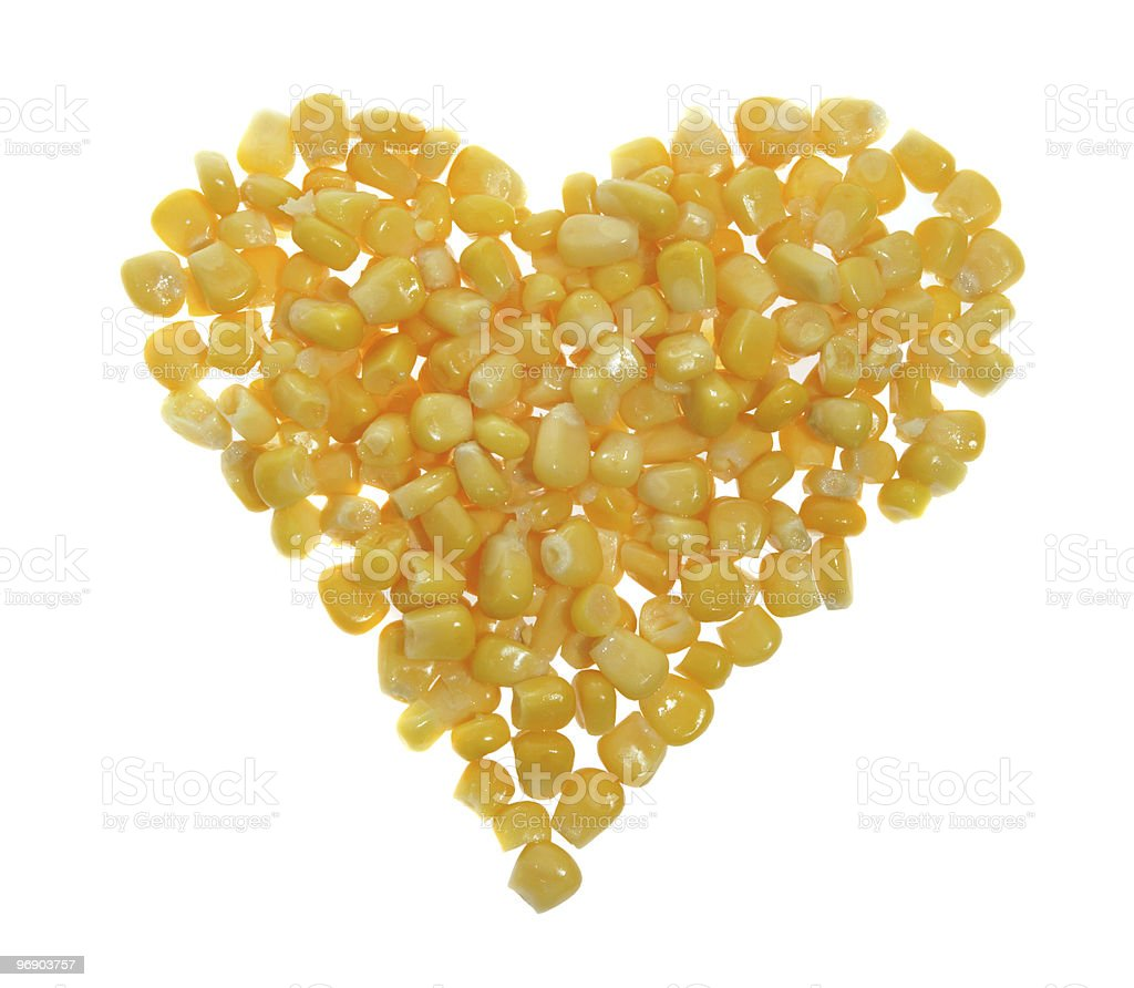 heart of canned corn royalty-free stock photo