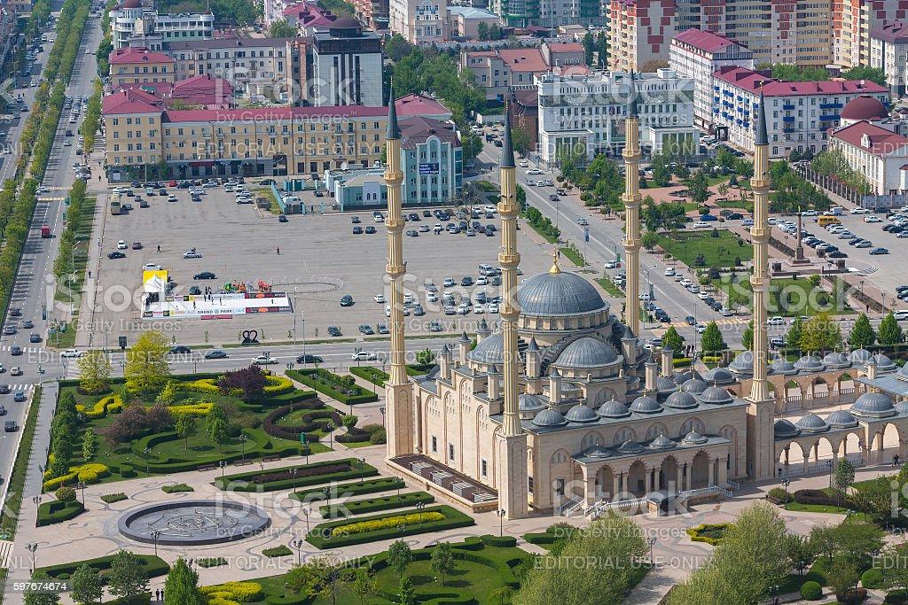Heart of Chechnya n Grozny. stock photo