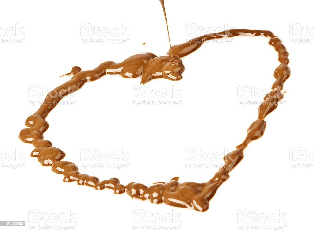 Heart of chocolate stock photo