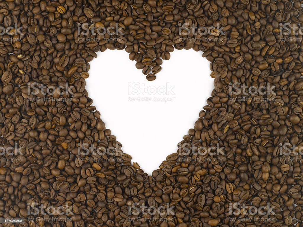 Heart of coffee royalty-free stock photo