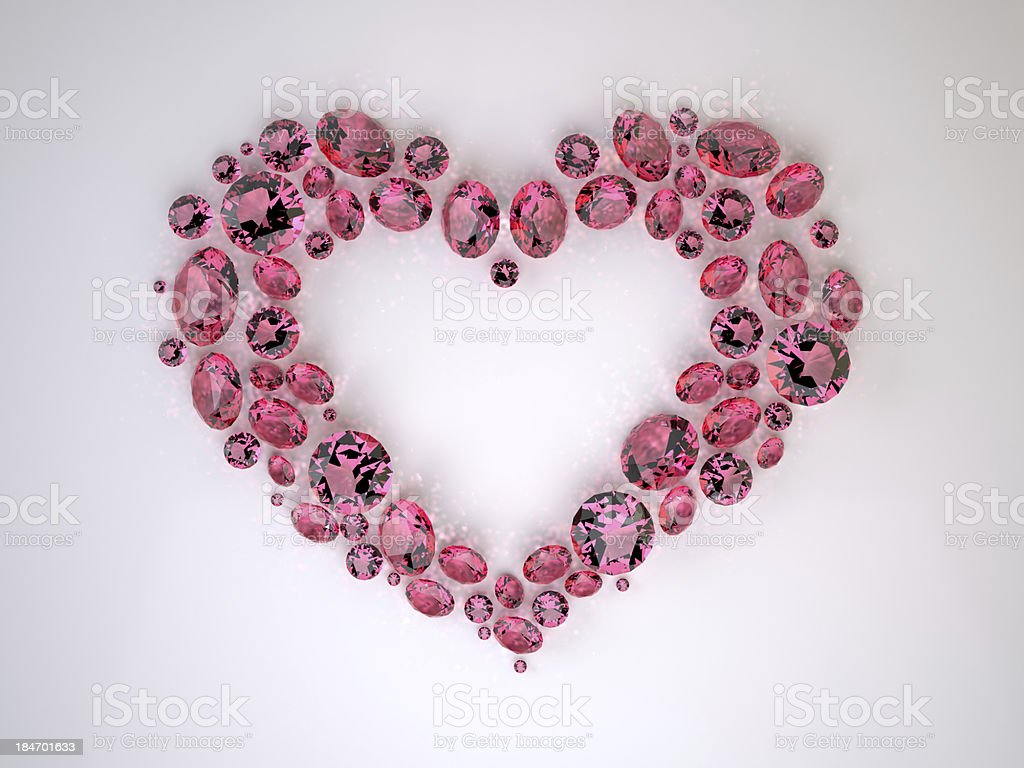 Heart of Diamonds royalty-free stock photo